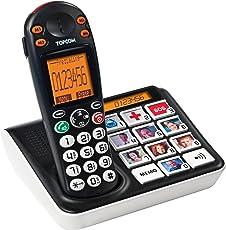 Topcom Bildtasten Telefon (schnurlos) - mit 10 Kurzwahltasten und Großtasten - Hörgerätekompatibel, TS-5611