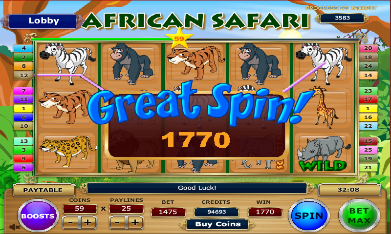 african safari slot game