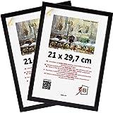 3-B Set de 2 pièces Cadres JENA - Noir - 21x30 cm - Cadre en Bois, Cadre pour Photo