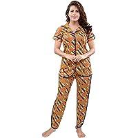 TUCUTE® Women's Sarina Knitted Women's Shirt and Pajama Set/Pyjama Night Suit for Ladies/Night Suit/Nighty/Lounge wear…