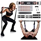 """INNSTAR Weerstand Bands Bar Oefening Bands Attachment 38 """"Zwart Max Load 800 lbs voor Thuis Gym Workout Full Body Workout Pow"""