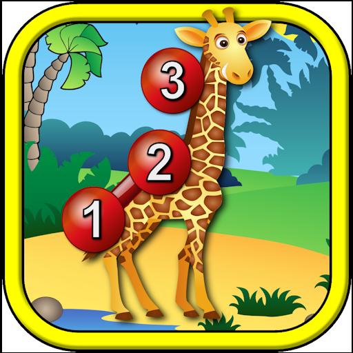 Bambini animale collegare i puntini puzzle - gioco di forma numerata punto per punto educativo numeracy adatto per giovani lo sviluppo di bambini in età prescolare 2 +
