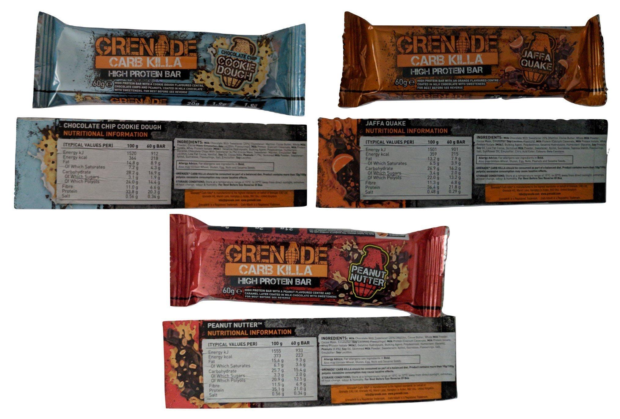 Grenade Carb Killa Protein Bars ALL 11 FLAVOURS 7