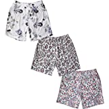 Fabtie Cotton Printed Shorts   Lounge Shorts   Night Dress   Night wear for Women(Print and Colours May Vary, Pack of 3)