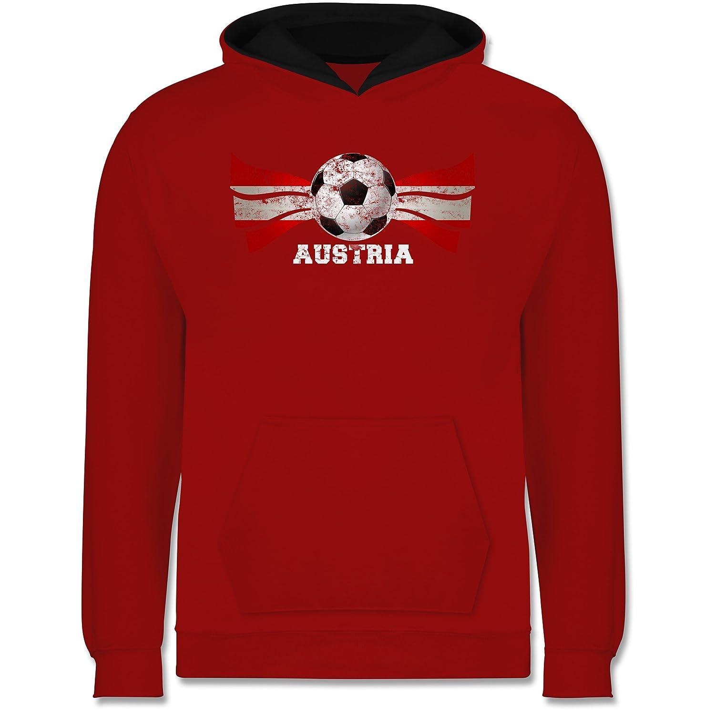 EM 2016 Frankreich Kind - Austria Fußball Vintage - Kinder Hoodie Kontrast:  Shirtracer: Amazon.de: Bekleidung