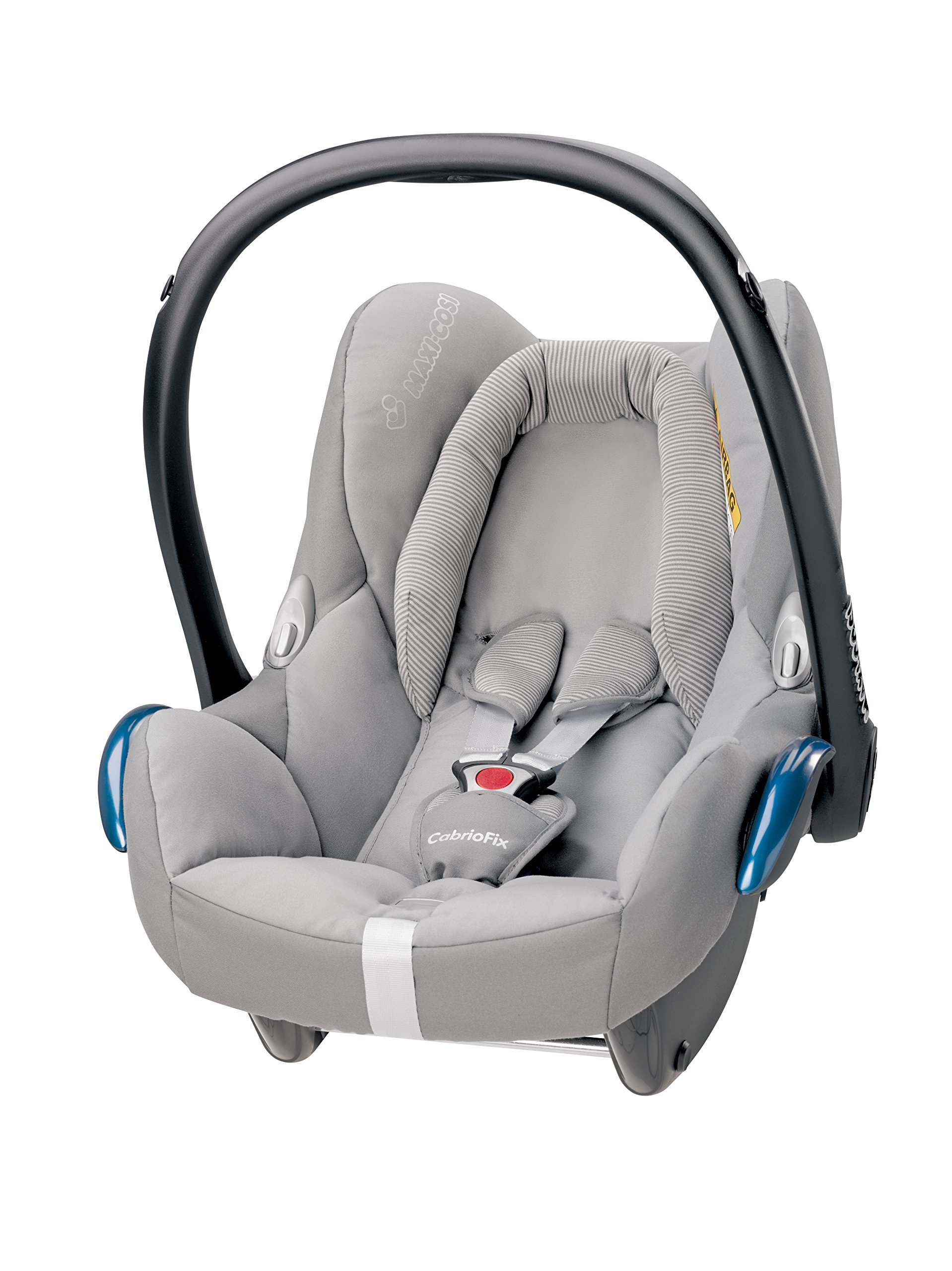 Maxi-Cosi CabrioFix Baby Car Seat Group 0+, ISOFIX, 0-12 Months, 0-13 kg, Concrete Grey Maxi-Cosi Suitable from birth to 13 kg (approximately 12 months) Compatible with Maxi-Cosi and Quinny pushchairs to form a travel system Easy installation in combination with Maxi-Cosi FamilyFix Base, EasyFix Base or a three-point seat belt 1