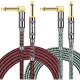 """OTraki Câble Guitare d'instrument 3 mètres 1/4"""" 6.35mm Mâle à Mâle Tweed Tissé 10ft cables jack guitare pour Guitare Electriq"""