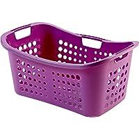 CURVER | Panière à linge 50L, Violet, Laundry Hampers & Baskets, 59x38,5x24,4 cm