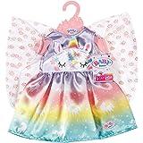 Baby Born Sprookjes Outfit voor Poppen van 43 cm - Eenhoorn, Regenboog & Sprookjesvleugels Design- Ideaal voor Kinderhandjes,