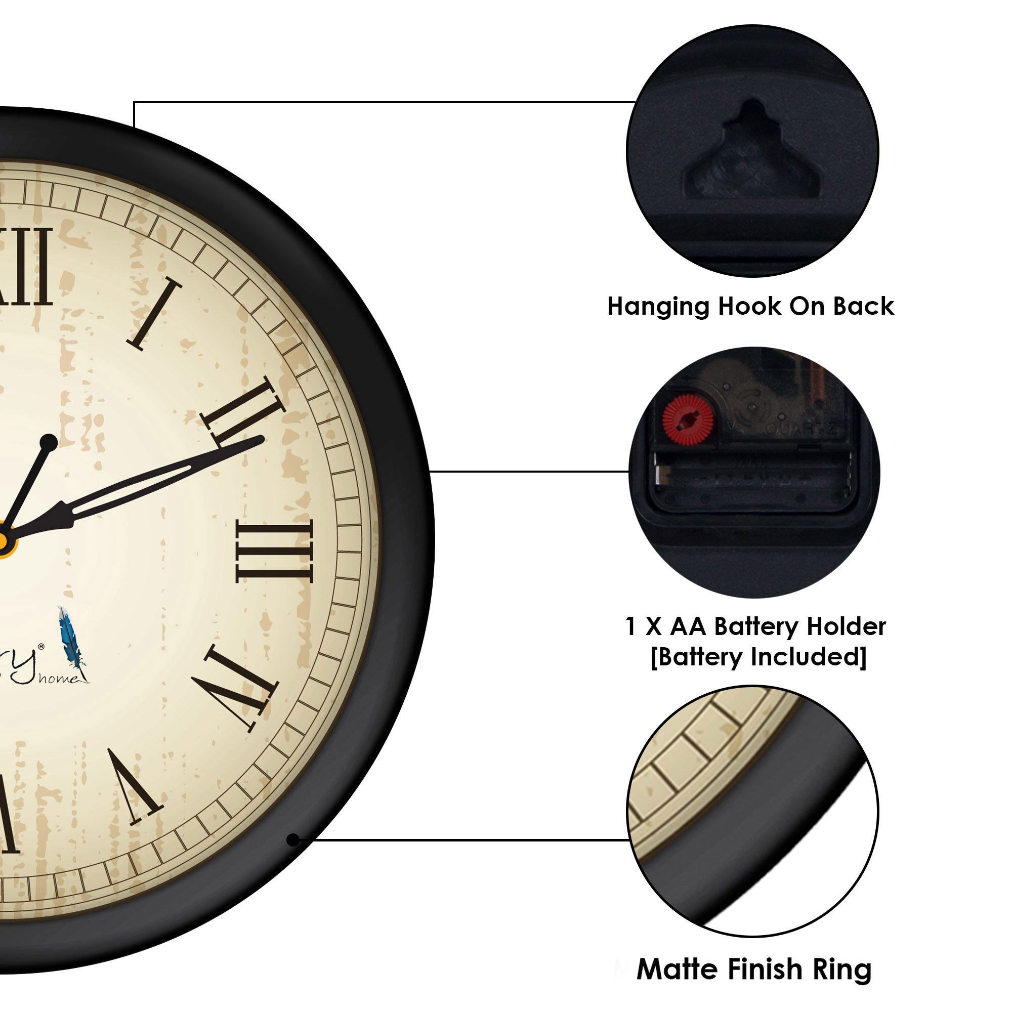 Brilliant Story Home Round Shaped Wall Clock For Home Office Bedroom Living Room Drawing Room Download Free Architecture Designs Rallybritishbridgeorg