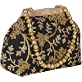 Vanya Handicraft Collection Women's Embroidered Potli Bag