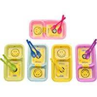 Kids Trends Smiley Maggi Plates for,Return Gifts for Kids Birthday Party (Pack of 6)