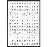 JUNOMI® Yoga poster DIN A2 met 168 poses en asanas, yoga-accessoires voor studio's en oefeningen thuis, perfect yoga-cadeau-i