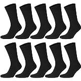 ABI TEXTIL - Calcetín para hombre y mujer, algodón (10 pares) sin costuras, transpirables y resistentes, cómodo