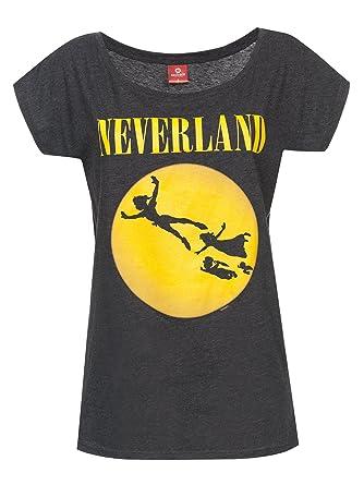 Peter Pan Neverland Seattle Girl-Shirt dunkelgrau meliert S