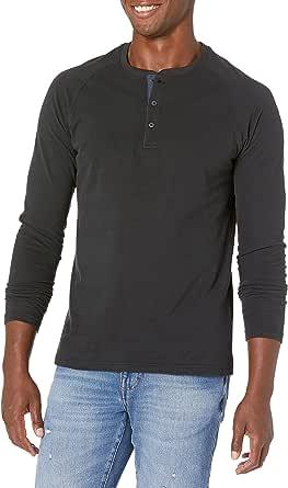 Goodthreads Men's Long-sleeve Sueded Jersey Henley Shirt