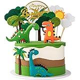 13 piezas de dinosaurio 3D para decoración de tartas para niños, cumpleaños, baby shower, fiestas