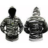 stormkloth/dallaswear Adults Camo Combat Zip Hoodies/Hooded Top - 8 Camo Colours to Choose from!