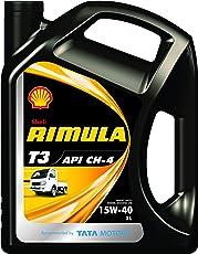 Shell Rimula T3 15W-40 API CH4 Premium Mineral Engine Oil (3 L)