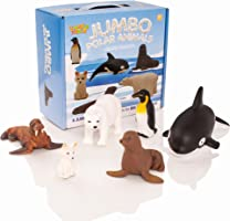 Learning Minds Set of 6 Jumbo Polar Animal Figures - 18 Months +
