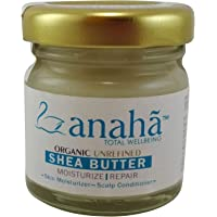 Anaha Organic Unrefined Raw Shea Butter for Dry Skin, 30g