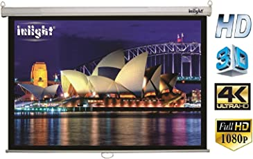 Inlight Wall Imported Autolock/Instalock Projector Screen, Size: - 6x4 Ft.(A+++++ GRADE, DOUBLE LAYER FABRIC PASTING)