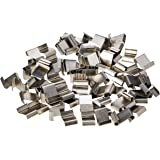 Bulk Hardware BH03660 roestvrijstalen glazen clip met Z-Lap, type, 100 stuks