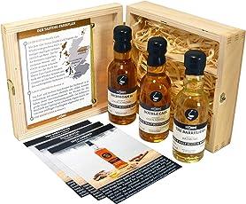 "myDrams Whisky Probierset""Smoke by the Sea"" Hochwertiges Whisky Geschenkset (3 x 50 ml) | Whisky Tasting Set | Whisky Set | Whisky Single Malt | Scotch Whisky | Geschenk Set"