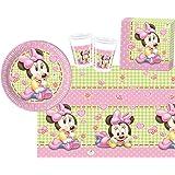 Procos 10108564B Kinderpartyset Disney Baby Minnie, Größe S, 37 teilig
