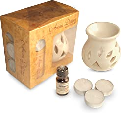 Pure Source India Aroma Set With 10 ml Relaxing Aroma Oil And 4 Tea Candles, Of Gift Pack As In Picture .