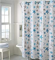 Hookless PEVA Shower Curtain - Seashell - Blue Gray (RBH14FC243)