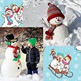Schneemann-Foto-Collage