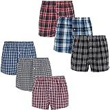 Style It Up 3-12 Paquetes de Boxers Tejidos Pantalones Cortos de Diseñador Calzoncillos de Algodón Rico Ropa Interior Negro A
