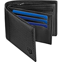 Mens Wallet, BIAL RFID Blocking Wallet Bifold Leather Wallets Mens, Slim Wallet with ID Window Zip Coin Pocket 9 Card…