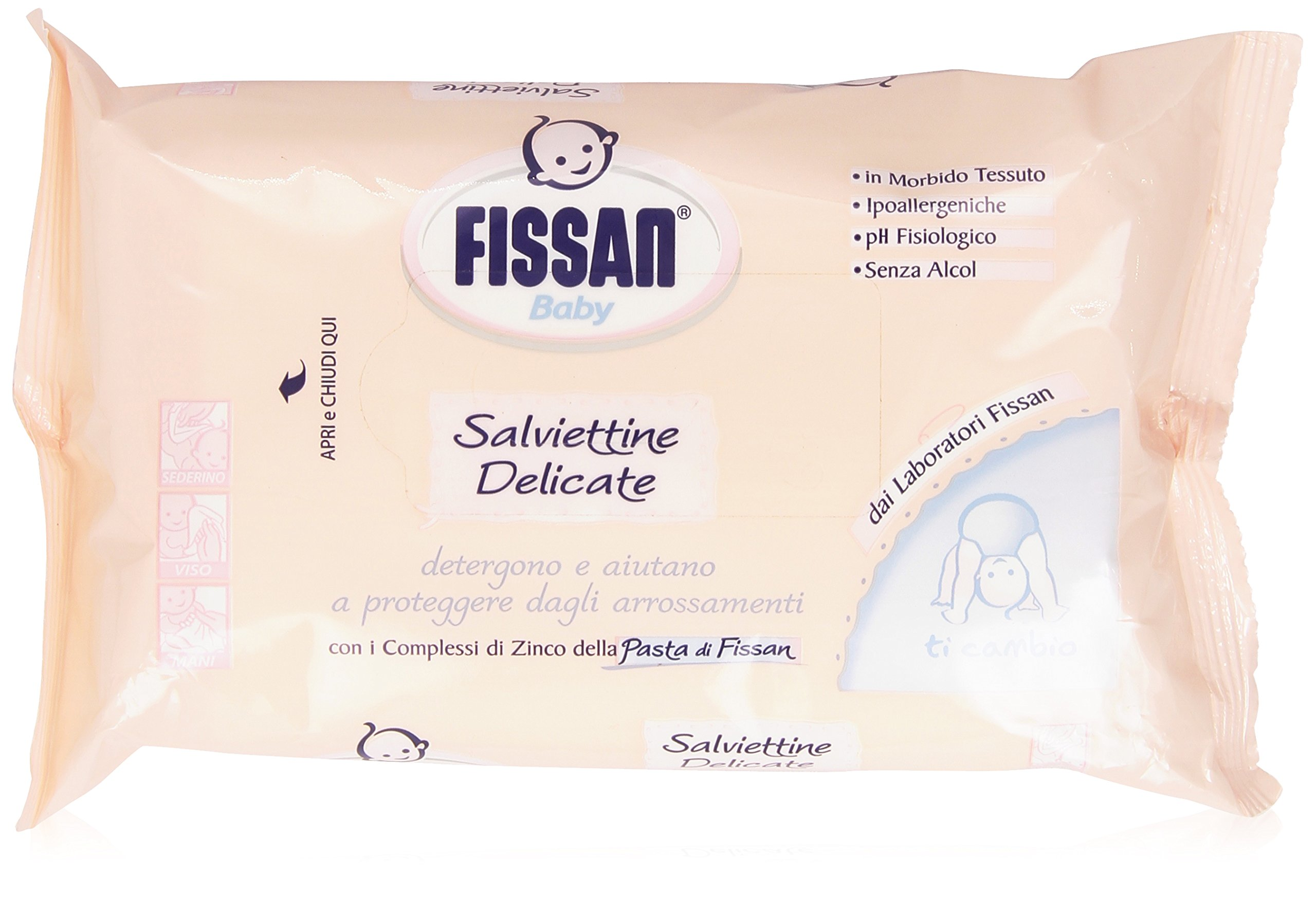 Fissan - Salviettine, Baby, Delicate -  72 pezzi