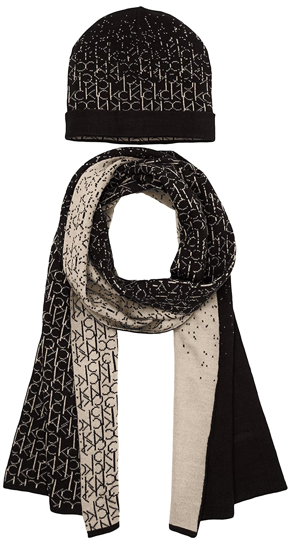 abbastanza Calvin Klein Jeans Logo Gift, Set cappello e sciarpa da donna  NN96