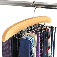 Hangerworld Cintre Porte-Cravates Classique en Bois à 24 Crochets - 39cm