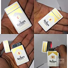 Luxury Designer Metal Refillable Windproof Cigarette Gas Lighter for Men & Women
