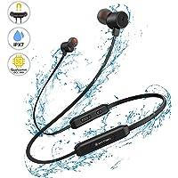 Bluetooth In-Ear Kopfhörer YATWIN - Kabellose Magnetische und Nackenbügel Sportkopfhörer (Black)