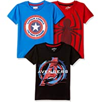 Marvel By Kidsville Boys' T-Shirt (Pack of 3)