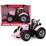 ToylandⓇ Trattore agricolo motorizzato con attrito 22cm x 12cm cofano apribile- Rosado