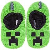 Minecraft Creeper Boy's Slipper Socks