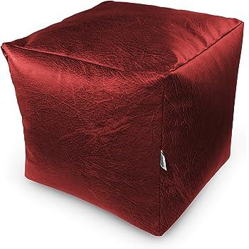 natalia spzoo sitzwrfel aus kunstleder zum sitzen spielen usw super leicht rotdunkel