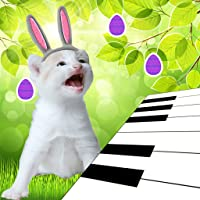 3D Easter Bunny Kitten Piano