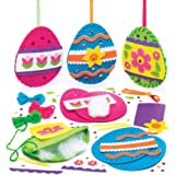 """Baker Ross Nähsets """"Osterei"""" (3 Stück) – Bastelidee zu Ostern für Kinder zum Gestalten und Dekorieren"""