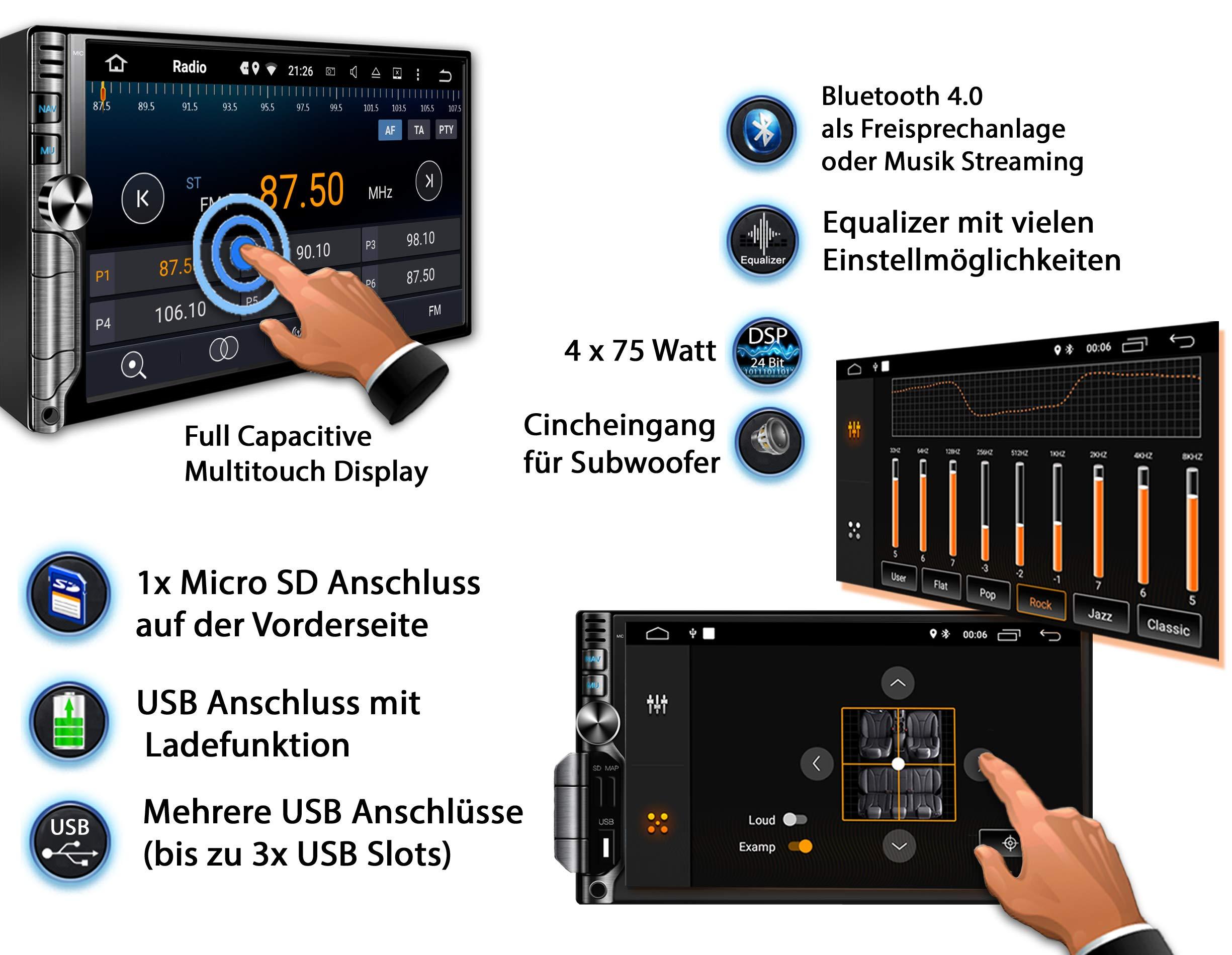 Tristan-Auron-BT2D7019A-Autoradio-Android-81-7-Zoll-Touchscreen-Bildschirm-GPS-Navi-Bluetooth-Freisprecheinrichtung-Quad-Core-MirrorLink-USBSD-OBD-2-DAB-Doppel-Din