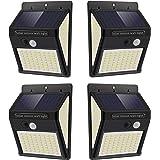 Luz Solar Exterior con Sensor de Movimiento, Luces 144 LED Solares Exteriore, 3 Modos, 270º lluminación Focos Solares Exterio