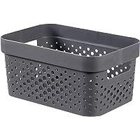 CURVER | Bac Infinity 4,5L , Gris Anthracite, 26 x 17,5 x 12,3 cm, Plastique recyclé