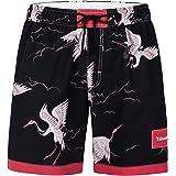 Yaluntalun Men's Board Shorts Quick Dry Swim Trunks Beach Shorts Holiday Bathing Suits Lightweight Beachwear with Mesh Lining