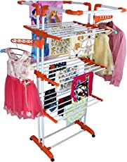 PAffy 3 Pole 3 Layer, Steel Cloth Dryer Stand – King Jumbo (Multi-Color)